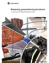 Rekrytering, genomströmning och relevans: en studie av yrkes- och lärlingsutbildningssystemen i Norden (TemaNord Book 544) (Swedish Edition)