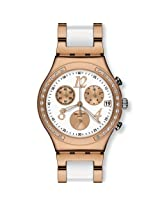 Swatch Chronograph White Dial Men's Watch - YCG406G