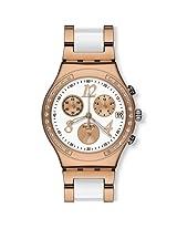 Swatch Chronograph White Dial Men's Watch - YCG406G