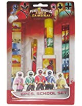 Power Rangers Stationery Set  - Design 2, Multi Color (6 Piece)