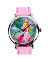 Disney Princess Anna Kids Analog Watch - Pink