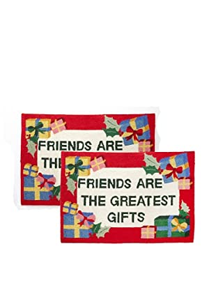 C & F Enterprises Set of 2 Friends are the Greatest Gifts Hooked Rugs