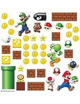 RoomMates Super Mario Build a Scene (Multi Color)