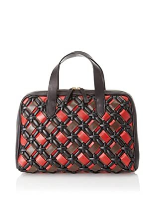 MARNI Women's Handbag with Weave Detail, Red/Black