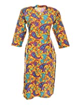 2Dots Women's Cotton Regular Fit Kurti (Multicolour, 42 Inches)