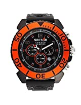 Sector Black Chronograph Men Watch R3271603025