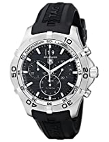 TAG Heuer Men's CAF101E.FT8011 Rubber with Black Dial Watch