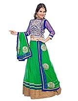 Manvaa Women's Lehenga Choli (OJS3052A_Green_XX-Large)