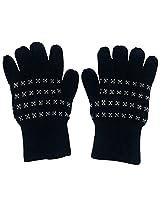 Graceway Unisex Gloves (4GL4, Black, Free Size)