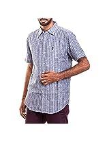 Urban Polo Club Grey Patterned Shirt Small- Half Sleeve
