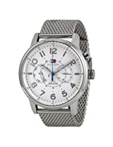Tommy Hilfiger Multi-Function White Dial Stainless Steel Mesh Men'S Watch - Tomw1791087