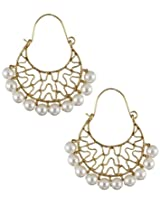 Deco Junction Fancy Earring With White Pearl