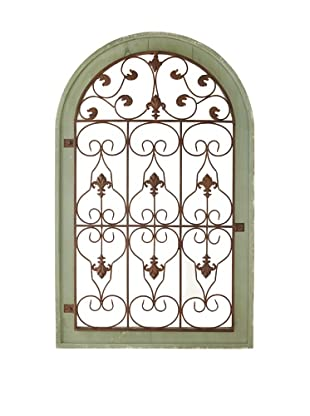 Wooden & Metal Arched Wall Panel
