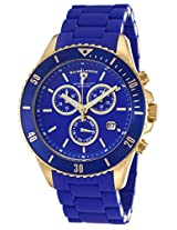 Luminoso Chrono Blue Silicone And Gold-Tone Steel (93609-Yg-33)