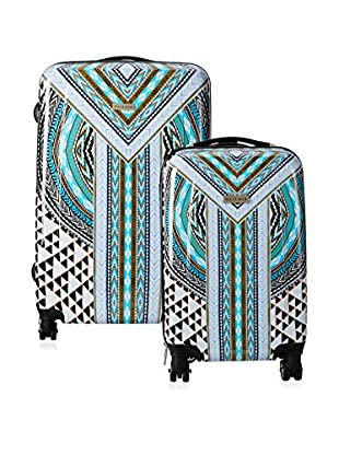 Hale Bob Native Tones 2-Piece Luggage Set, Blue