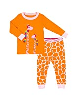 Girls 2-Piece Pyjama Set | Orange, 6X