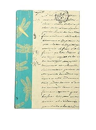 Go Home Dragonfly Book, Aqua/Ivory