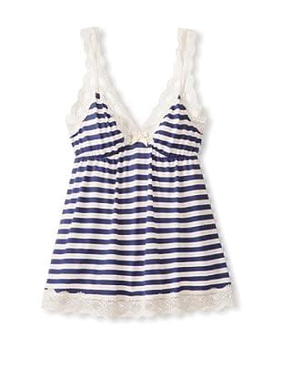 Eberjey Women's Maritime Stripes Cami (Deep Blue)