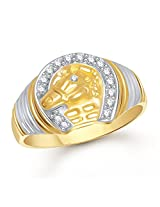Meenaz Rings For Men Gold Gents Ring In Fashion Jewellery For Men In American Diamond Cz -FR406 (18.0)