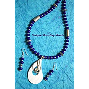 Unique Dazzling Beads Brilliant Blue Necklace