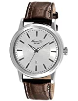 Kenneth Cole White Dial Analog Leather Strap Watch for Women IKC1952