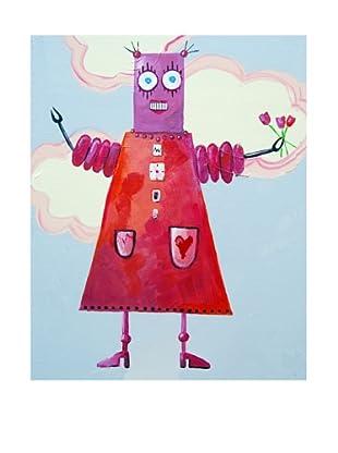 "Cici Art Factory Zorba Loves Flowers, 11"" x 14"""