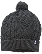 Psycho Bunny Men's Aran Cable Knit Hat