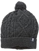 Psycho Bunny Men's Aran Cable Knit Hat