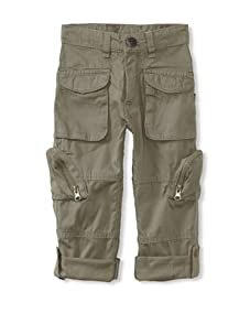 KANZ Boy's Roll-Up Pants (Olive)