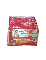 Pigeon Baby Wipes, Cham and Rose, 6 in 1 Bag (6 Packs, 82 Sheets per Pack)