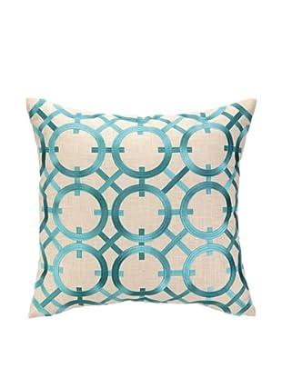 Peking Handicraft Parisian Lights Pillow, Turquoise