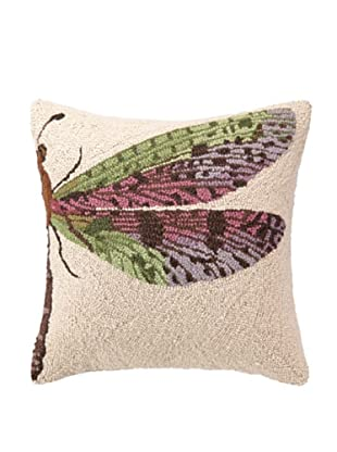 Hook Pillow, Pink Dragonfly, 18