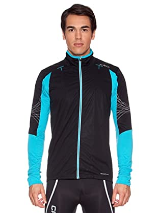 Craft Chaqueta Stretch Performance (Negro / Turquesa)