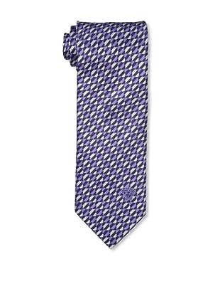 Versace Men's Illusion Tie, Purple/Silver