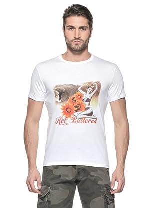 Hot Buttered Camiseta Flowers (Blanco)
