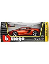 Bburago McLaren MP4-12C Scale-1:24 Die Cast Toy Car (Orange)