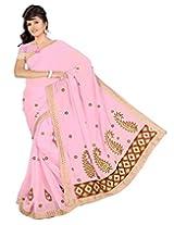 Somya Women's Embroidered Chiffon Saree