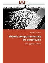 Theorie Comportementale Du Portefeuille (Omn.Univ.Europ.)
