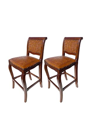 New World Trading Imperial Barstool, Antique Brown