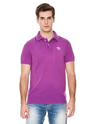 Hilfiger Denim Polo Logotipo (Morado)