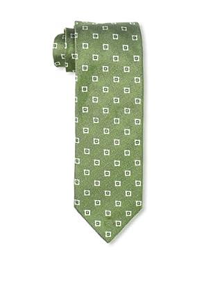 Massimo Bizzocchi Men's Star Tie, Green