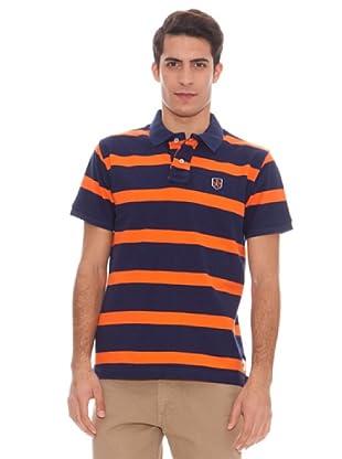 Valecuatro Polo Logo (azul marino / naranja)