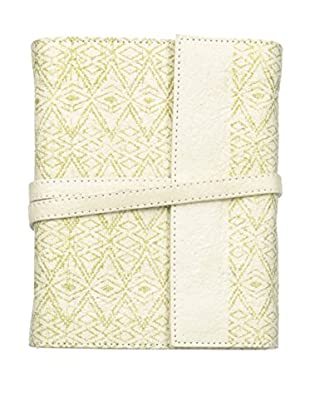 Marina Vaptzarov Medium Printed Vegetal Leather Cover Travel Diary, White