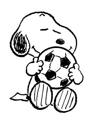 Beiwanda Kids Wandtattoo Snoopy liebt Fußball