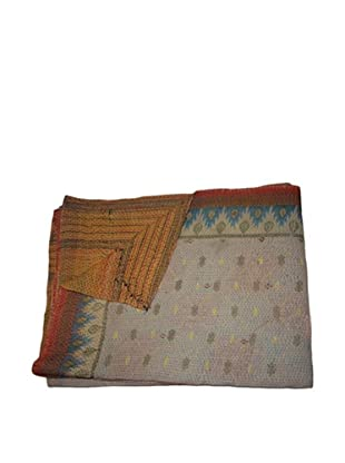 Vintage Parul Kantha Throw, Multi, 60