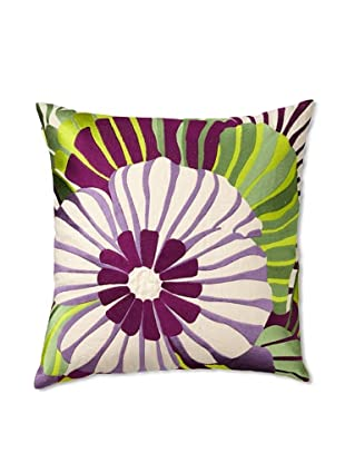 Trina Turk Embroidered Sea Floral Pillow (Purple)