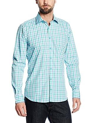 Mattschwarz Camisa Hombre Modern Fit