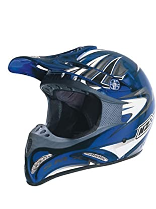 NZI Casco Integral Motocross Smx Cromo Cab (Azul)
