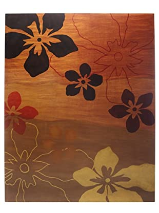 Floral Wall Art, Orange/Red/Yellow