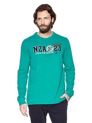 NZA New Zealand Auckland Camiseta Manga Larga Dáulide (Aguamarina)